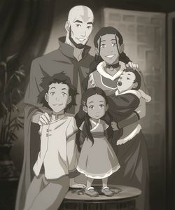 Aang and Katara... with kids. A family. I don't usually say this but OH MY GOD.