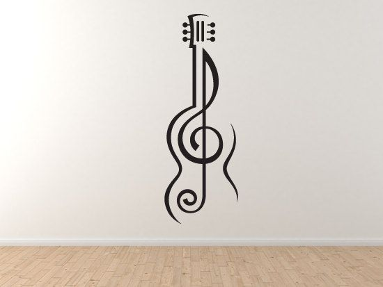 Music Note#2- Guitar Treble Clef Symbol Artist School Musical Wall Vinyl Decal Home Decor