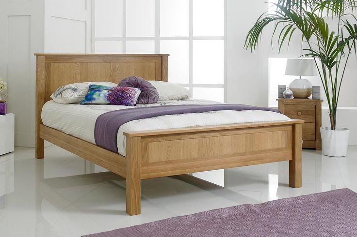 Capri Solid Oak Bed Frame 5ft - King Size | The Oak Bed Store