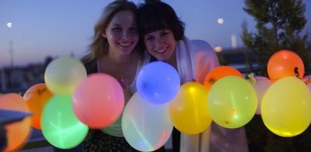 Leuchtende Ballons....