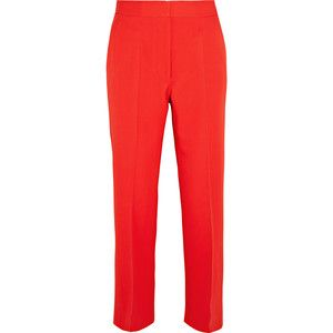 Stella McCartney Eden cropped wool-crepe flared pants