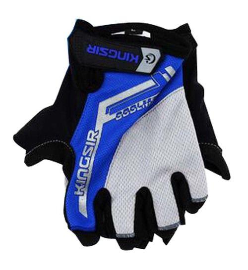 Cycling Equipment Summer Bike Gloves Riding Gloves Half Finger Blue