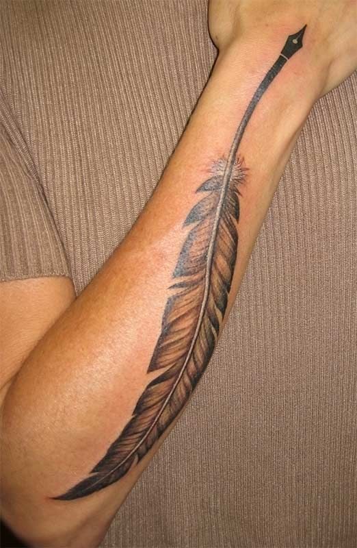 This will be what the feather pen looks like