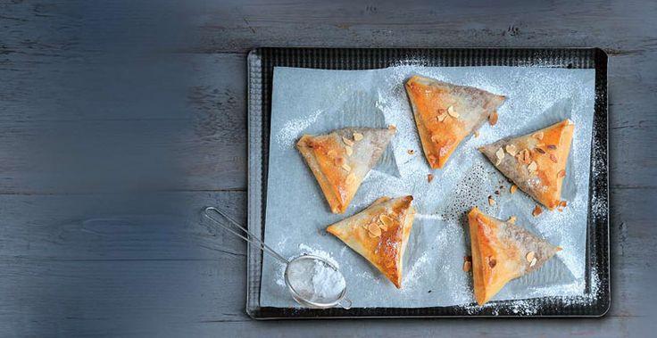 Τρίγωνα με κρέμα κάστανο και αχλάδι | ΧΡΥΣΗ ΖΥΜΗ