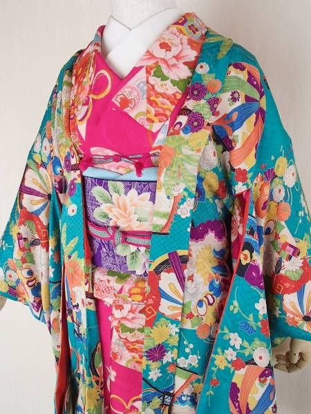 Vibrant Young Girls Furisode
