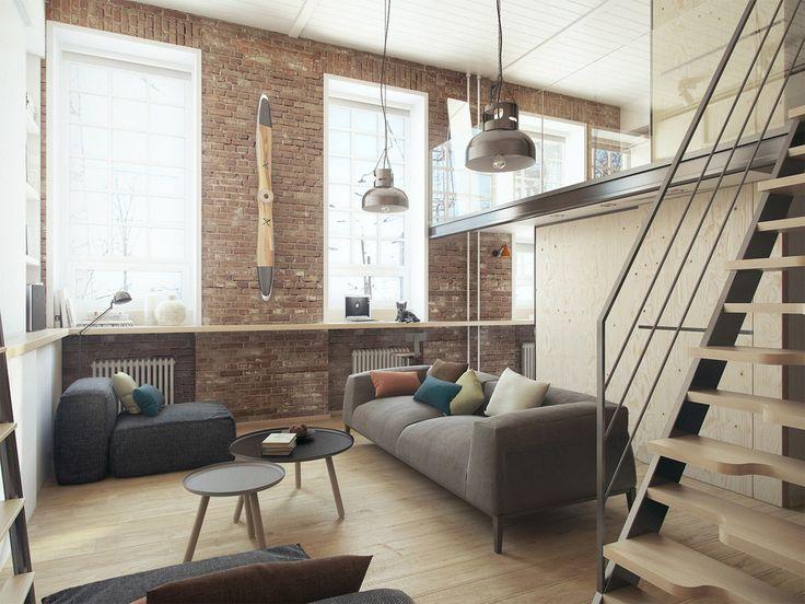 Studio Apartment Brick Wall 48 best budapartment idea images on pinterest | architecture, open