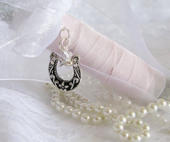 Horseshoe Western Wedding Bouquet Charm by Keepsakes By Katherine, Perfect for your western theme wedding