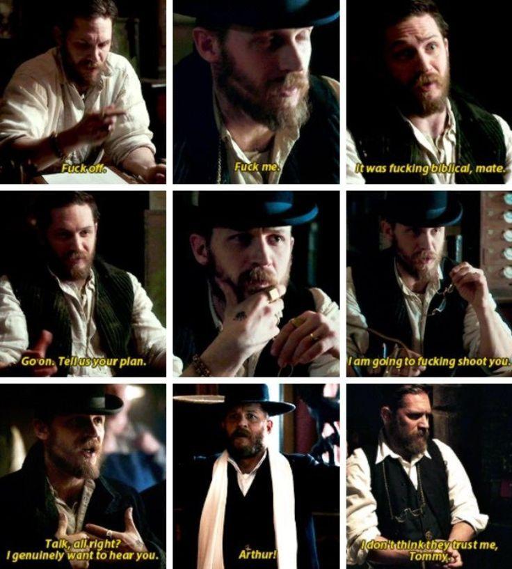 Peaky Blinders – Tom Hardy as Alfie Solomons 💙 – #Alfie #Arthur #artwork #Bar…