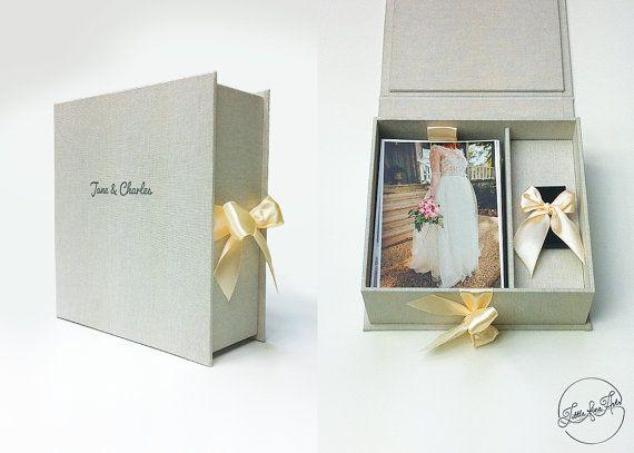 Presentation Box 4x6 10x15cm Photo USB Box by LittleFineArts