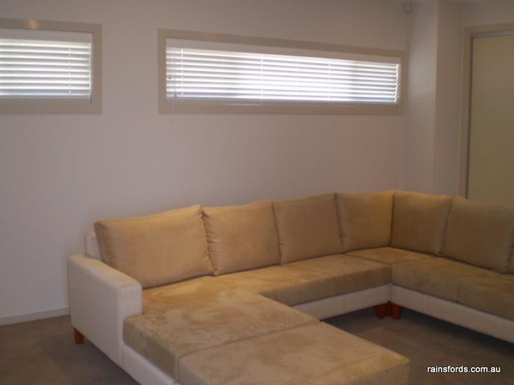 Timber venetian blinds in St Morris home by Rainsfords Adelaide  http://rainsfords.com.au/index.php/timber-venetian-blinds/#