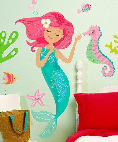 Mermaid Wall Decal Set #zulilyfinds Part 69