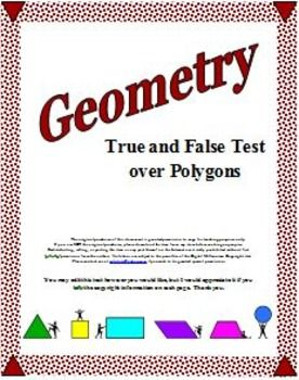 Plane Geometry - 22 True and False Questions about Polygons
