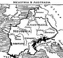 Austrasie et Neustrie. 511-575 - Thierry 1°. 2) SON ROYAUME, 5: A la mort de Clodomir, (524) que Thierry accompagne dans une guerre contre le roi burgonde Godomar III, le partage secondaire entre les frères survivants lui laisse en plus les cités d'Auxerre et de Troyes et la division de celle de Sens.