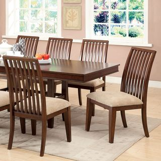 Furniture of America Morottia 7-Piece Transitional Dining Set with 18-inch Leaf | Overstock™ Shopping - Big Discounts on Furniture of Americ...
