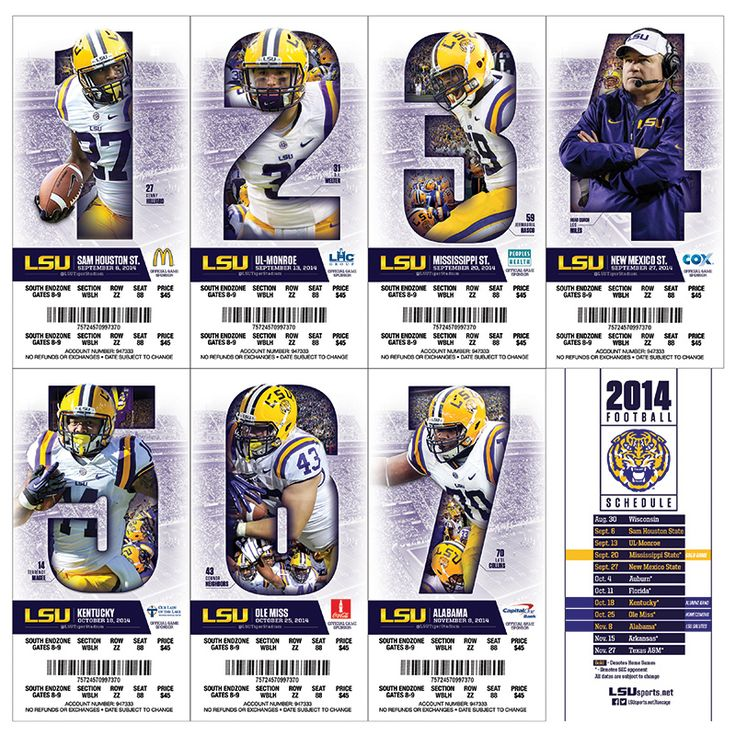 LSU Ticket Stock on Behance