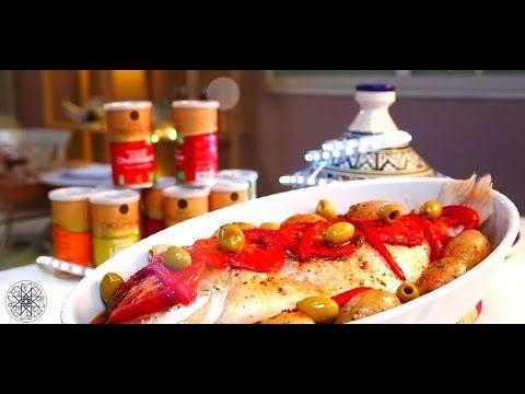 Choumicha Poisson au four Mchermel VA شميشة سمك متبل بالشرمولة في الفرن - YouTube