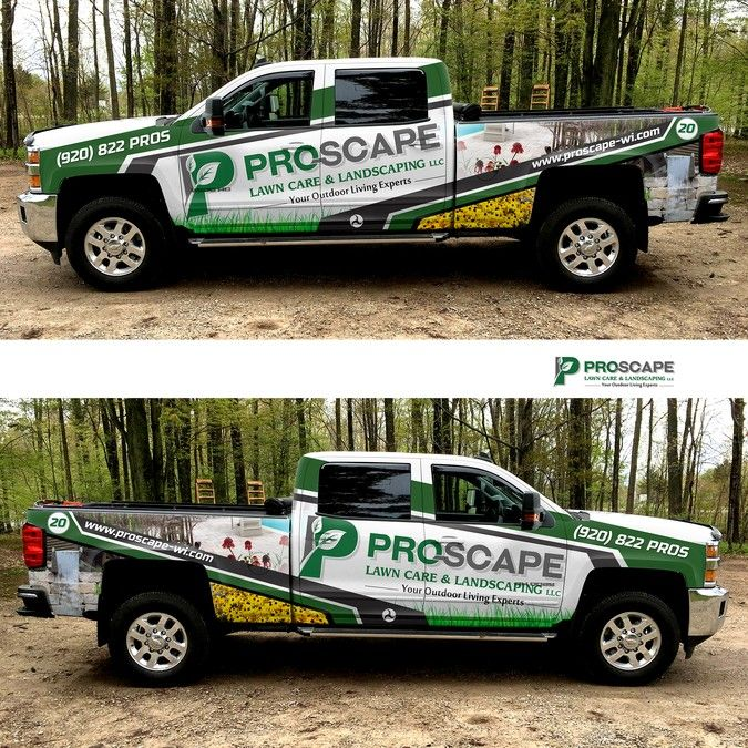 Best Landscape Fleet Graphics Images On Pinterest Vehicle - Modern business vehicle decals