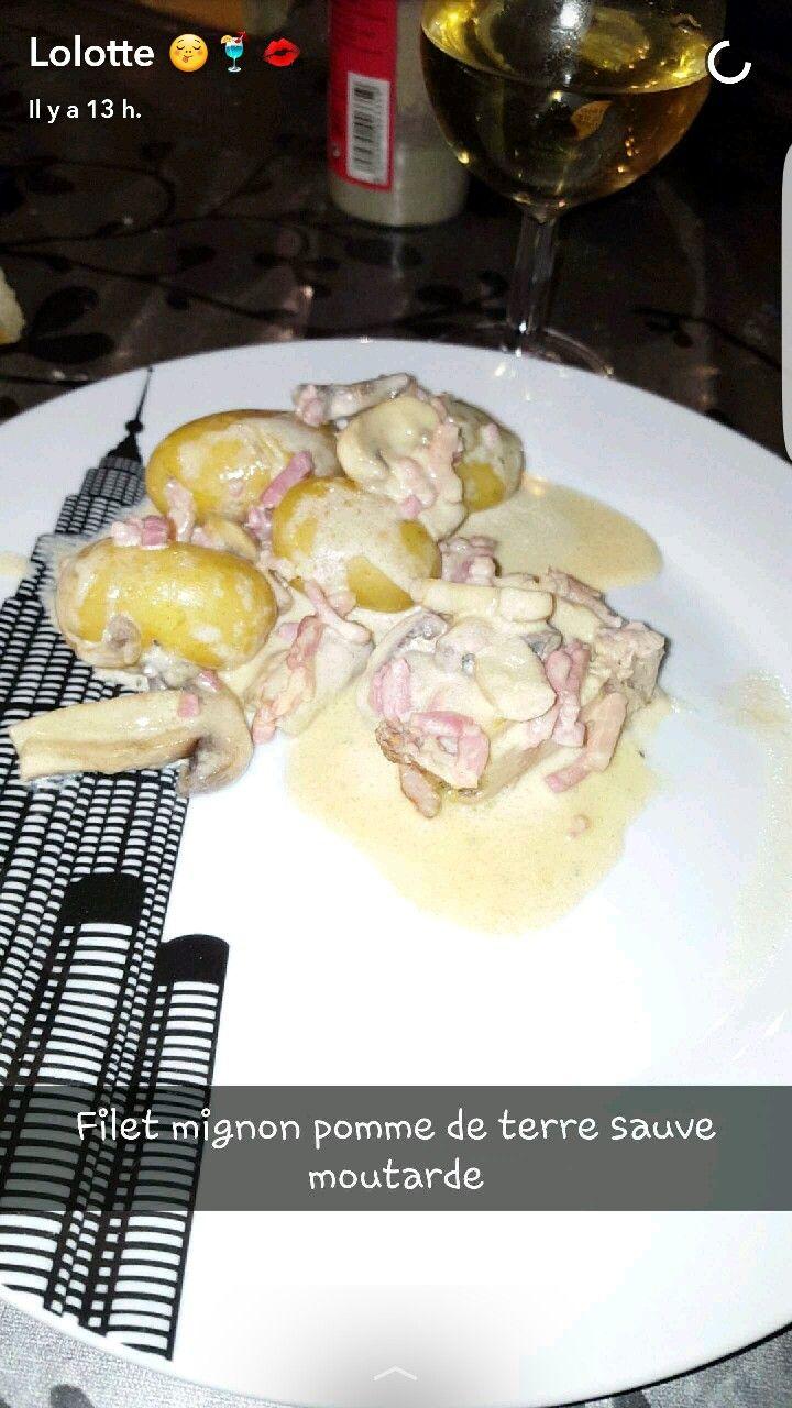 Filet mignon de porc sauce moutarde et ses petites pommes de terres