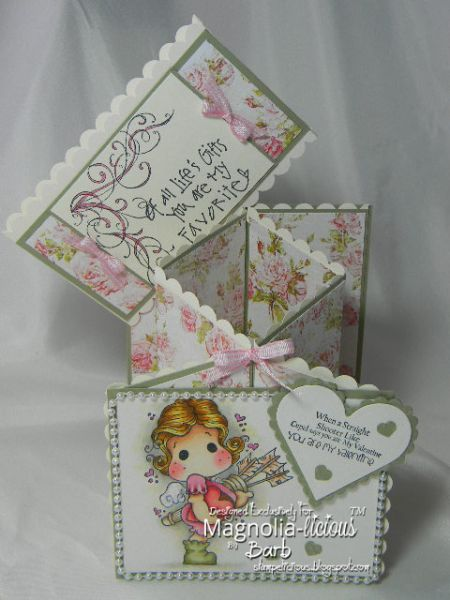 Belly band over the back of the card i used su scalloped edge punch