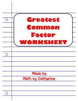 Factoring practice problems worksheet