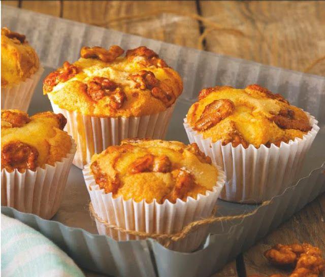 Recetas de Postres: Muffins con nueces caramelizadas
