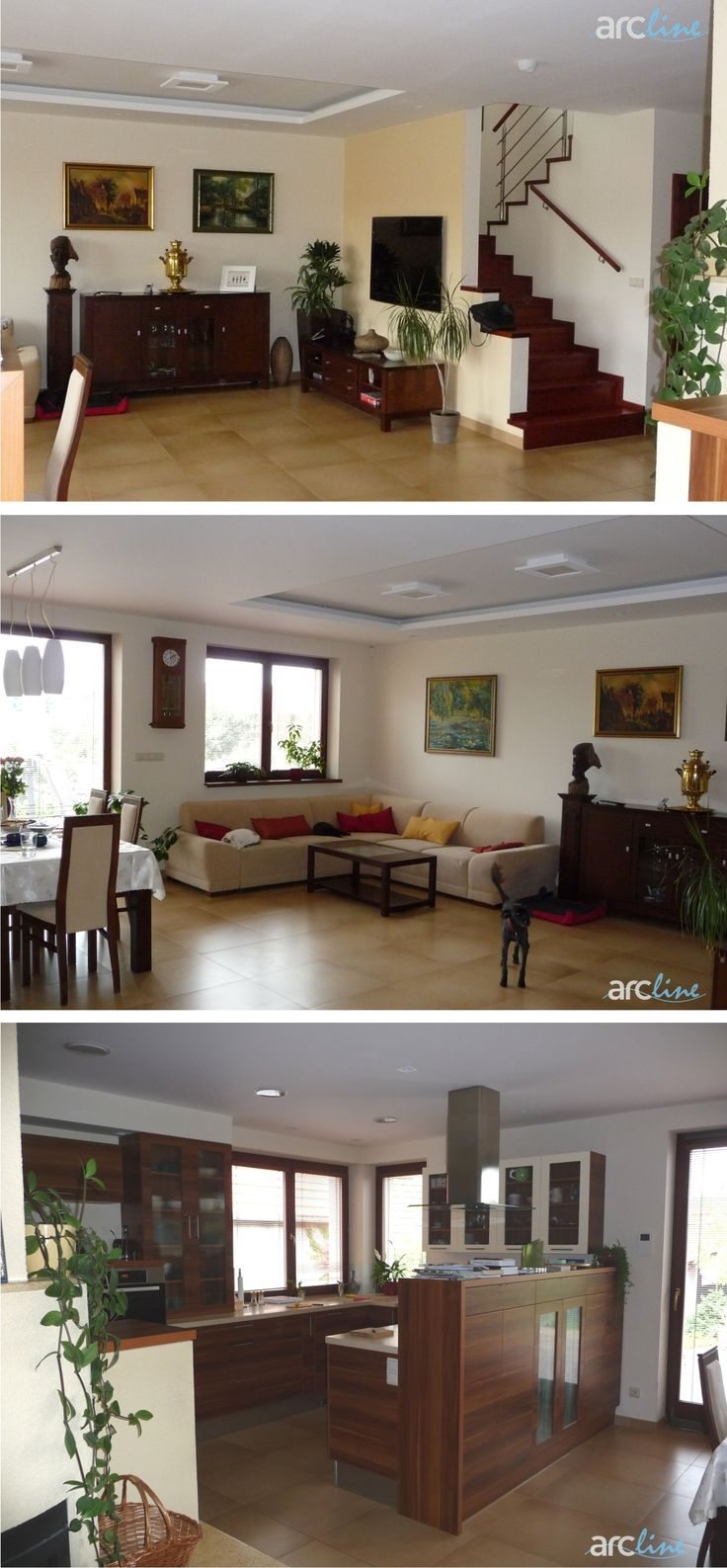 Realizácia interiéru RD, design by Monika Jakubcová, www.arcline.sk
