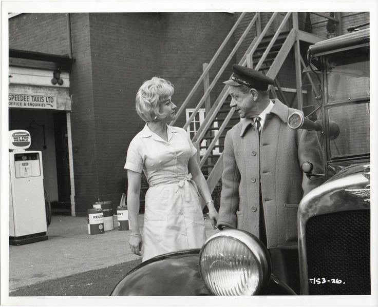 Liz Fraser and Sid James in the British comedy film, Carry On Cabby. 1963