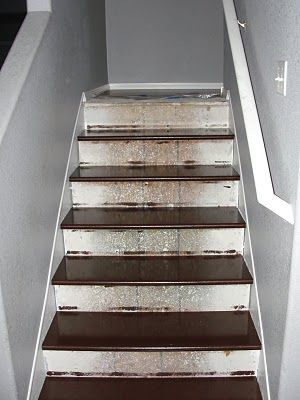 I wonder if this would fix the basement stairs and get rid of the carpet.  How to rip up carpet & redo stairs yourself Z