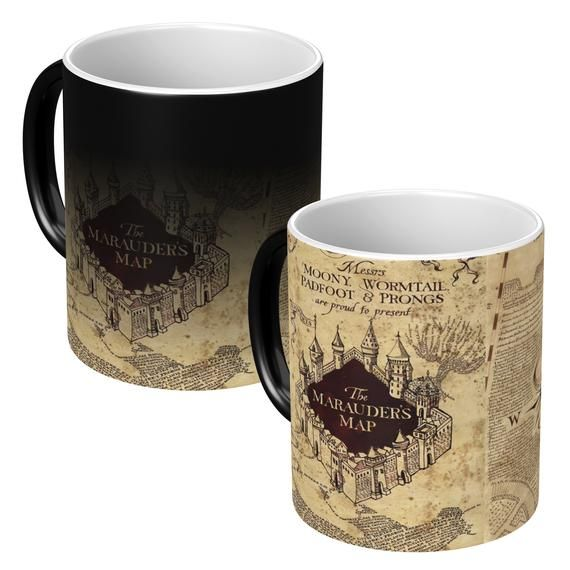 Harry Potter Marauders Map Heat Changing Magic Mug Anime Cup Etsy In 2020 Coffee Gifts Mugs Harry Potter Marauders Map