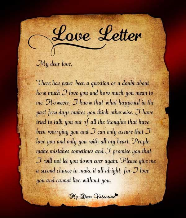 Good Letter To Get Back With Your Ex | Love Letter