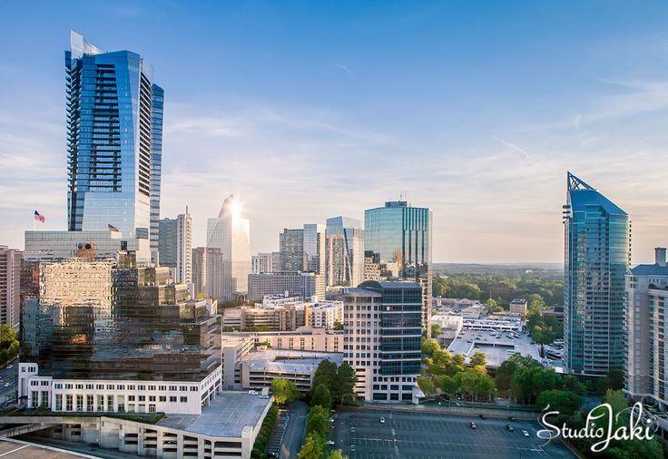 The beautiful Buckhead skyline in Atlanta, GA  #StudioJaki #Atlanta #Buckhead