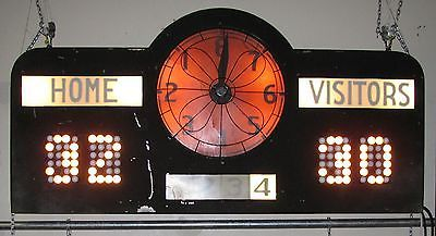 Vintage Basketball Score Board Ohio High School Lights Shipping Available