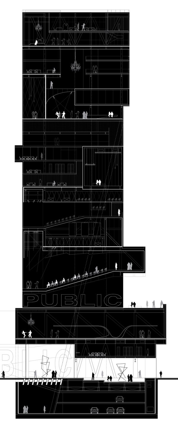 Highrise Proposal, Tokyo by Alexander Daxböck, via Behance