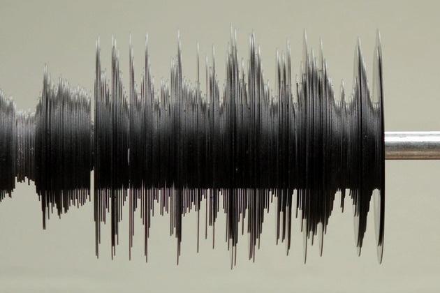 A vinyl record sound wave!
