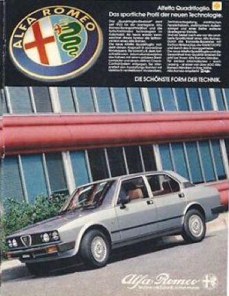 Alfa Romeo Alfetta Quadrifoglio - adv