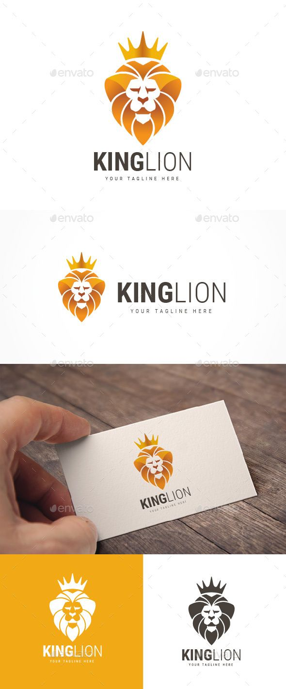 King Lion #Logo - Animals Logo Templates Download here:  https://graphicriver.net/item/king-lion-logo/20045631?ref=alena994