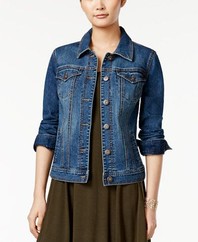 Style & Co. Denim Jacket, Mosaic Wash, Only at Macy's