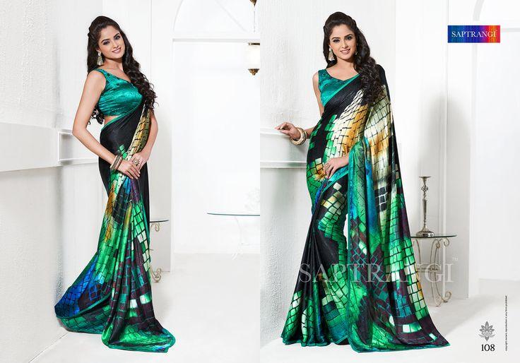 www.saptrangi.com Info@saptrangi.com Digital saree with fusion color