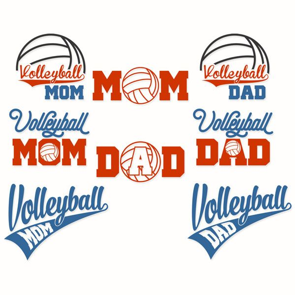 Volleyball mom dad svg cuttable designs for the home