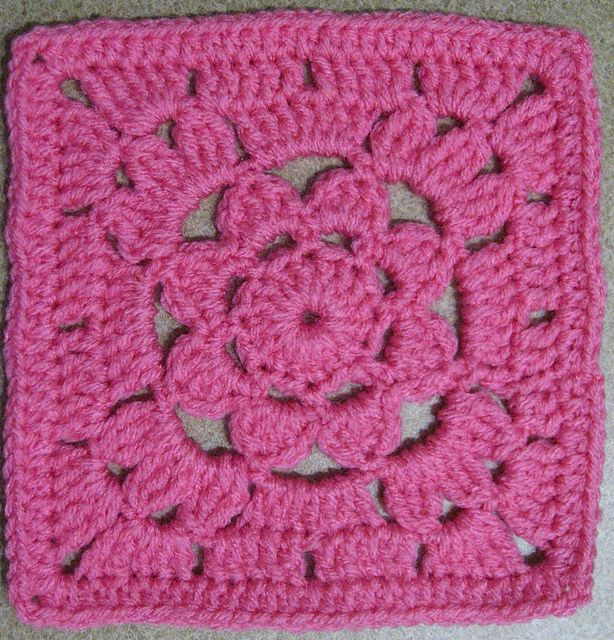 Ravelry: jewlbal3's 365 Day 15c -- Granny Square with a Flower