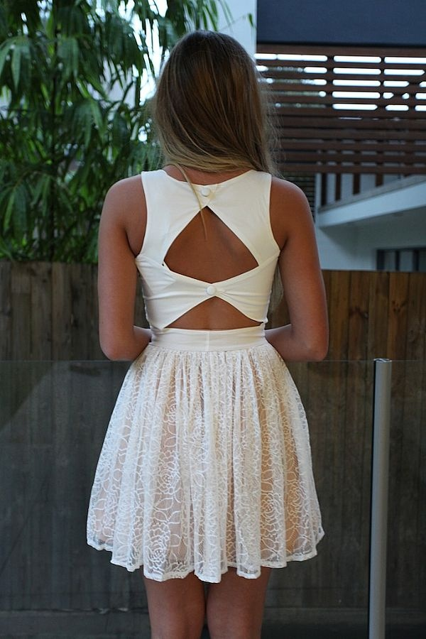 white lace cut out