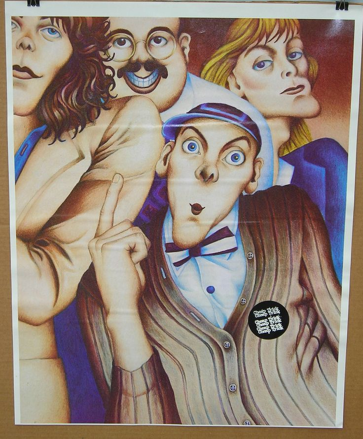 Vintage 1970's Cheap Trick Poster Rock Band by PJsVintageVariety