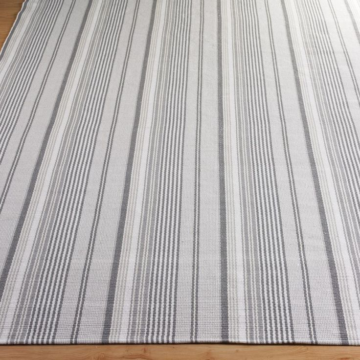 Platinum Stripe Cotton Rug. 4x6. Shades Of Light. Sun Room, Family Room