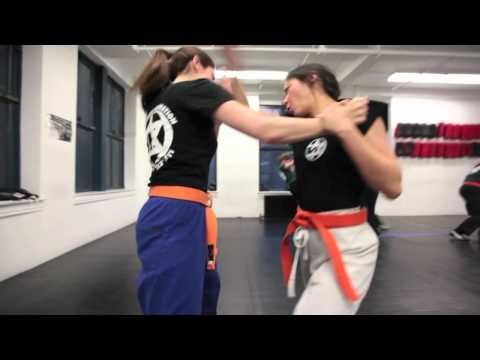 Women of the Krav Maga Federation Part II .  Krav Maga Federation believes in imparting the highest and most aggressive form of self-defense to women, following Imi Lichtenfeld's philosophy that every person, regardless of size or power, has the right to defend herself. In this video, the women of the Krav Maga Federation demonstrate basic techniques.