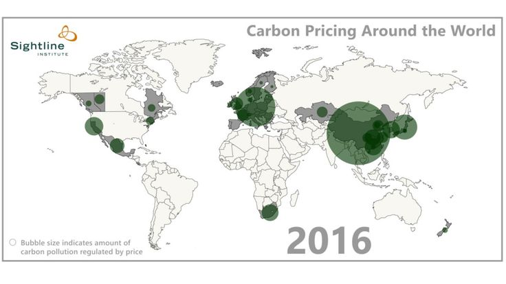 Carbon is getting priced, and this map shows you where.