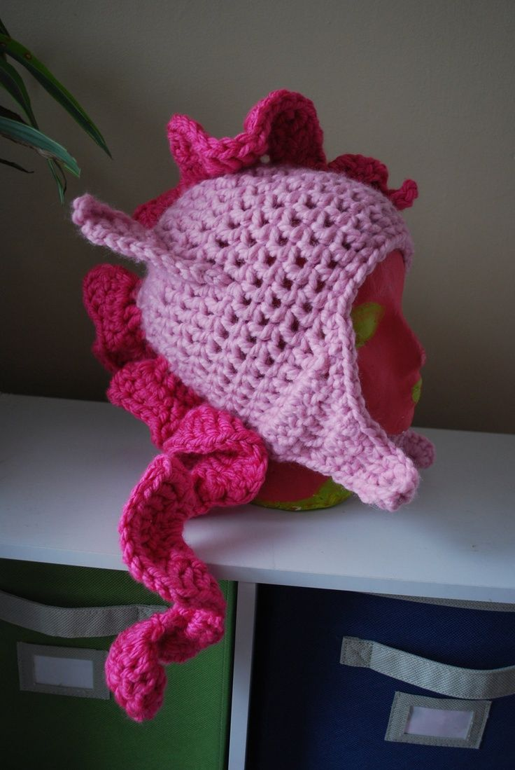My Little Pony Friendship is Magic PINKIE PIE crochet hat Ruthie would LOVE this!.