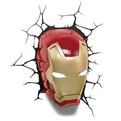 Lampada 3D Deco Wall Light - Maschera Iron Man