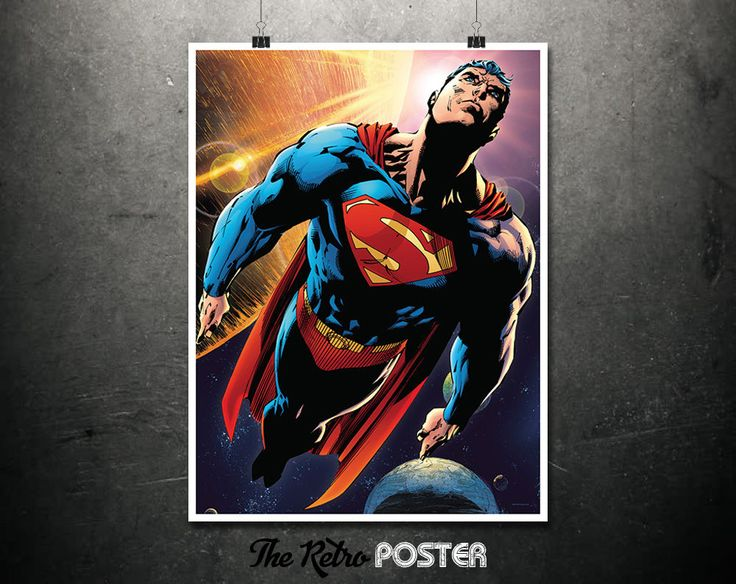 Superman - Boys Room Prints, Boys Bedroom, Boys Prints, Superman Poster, Superman Prints, DC Comics Poster, DC Comics Gifts, Man Cave Decor by TheRetroPoster on Etsy