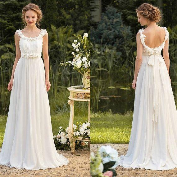 Robe de mariage fait main pur nuptiale robe de bal par Tiamodress, $259.00