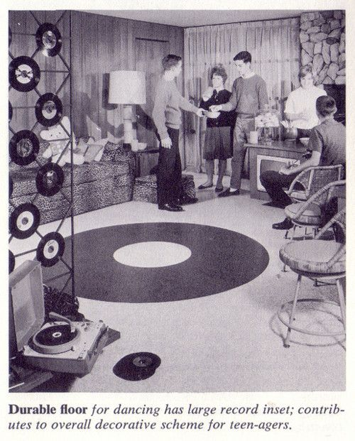 1960 vintage record decor